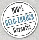 100% Geld-zurück-Garantie